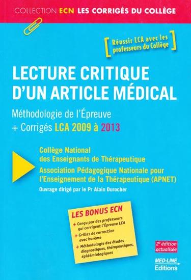 Lecture critique d'un article médical – 2e édition actualisée