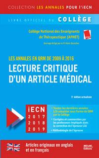 Lecture critique d'un article médical 2009-2016 5e édition