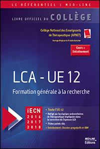 LCA – UE 12 Formation générale à la recherche