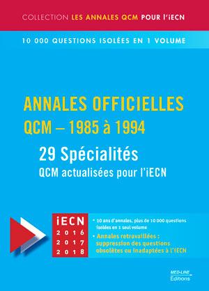 Annales officielles – QCM 1955-1994