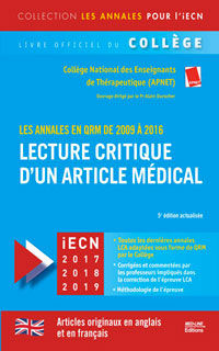 Lecture critique d'un article médical 2009-2016 5e édition