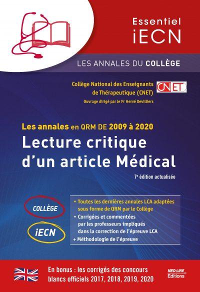 Les annales en QRM de 2009 à 2020 – Lecture critique d'un article Médical